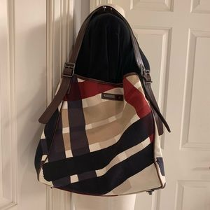 Burberry Canvas Mega Check Tote